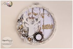 Scrappiamo Insieme: Tutorial: Altered Embroidery Hoop - Mixed Media