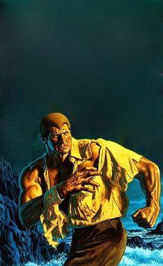 OMNIBUS 7, Bob Larkin Doc Savage cover painting.