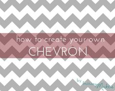 create your own chevron on photoshop elements