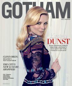 Kirsten Dunst on Gotham Magazine September 2015 cover
