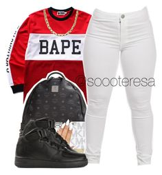 """""""Untitled #87"""" by itsteresa ❤ liked on Polyvore featuring A BATHING APE, MCM, MICHAEL Michael Kors, Michael Kors and NIKE"""