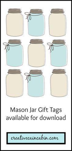 Mason Jar Gift Tag Printable En dan insecten er in laten tekenen