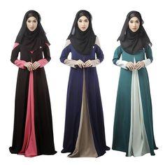 Women&-39-s Ethnic Muslim Dress Jilbab Look Abaya Long Prayer Dress ...
