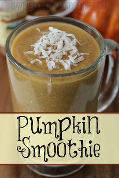 This Vegan Friendly Pumpkin Smoothie Recipe is a fun and healthy way to enjoy pumpkin this fall.
