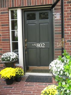 Nice color for front door - dark green? hunter green?
