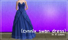 For the bride who wants to look like a swan at her wedding, there's a white recolor in the swatch for this dress.