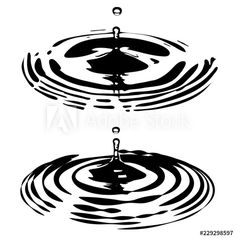 Water Ripples and Droplets - Buy this stock vector and explore similar vectors at Adobe Stock Water Sketch, Water Drawing, Spine Drawing, Water Ripples, Water Waves, Blackwork, Rainbow Water, Gold Water, Water Droplets