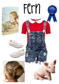 """Charlotte's Web- Fern"" by wearwhatyouread ❤ liked on Polyvore featuring Olympia Le-Tan and Converse"