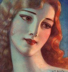 ► Wladyslaw Theodor Benda - Girl With Long Blonde Hair