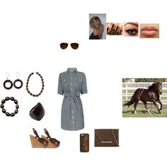 """""""Watching her horse"""" by sammisweets143 on Polyvore"""