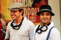 Fernando Alonso y Felipe Massa, corredores 'vintage' de los años 50