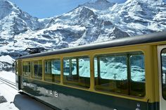 The Jungfrau Railway runs 9 kilometers from Kleine Scheidegg to the highest railway station in Europe at Jungfraujoch, Switzerland: | 15 Beautiful Sights Best Seen By Train