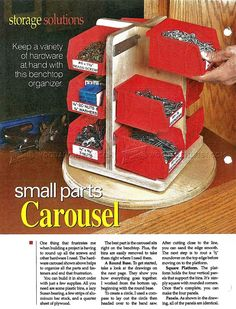 #1397 Small Parts Carousel Plan - Workshop Solutions Plans, Tips and Tricks