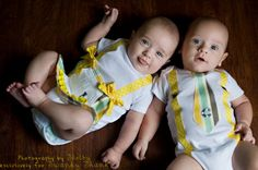 Swanky Baby Twin Girl/Boy Set of two matching by SwankyShank, $39.00