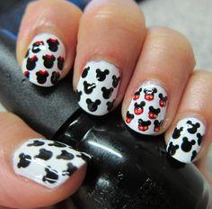 Diseño de uñas #30 ╫ Mickey and Minnie mouse ╫
