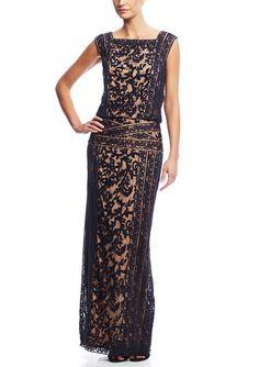 TADASHI SHOJI   $465.00 Lace Overlay Blouson Gown