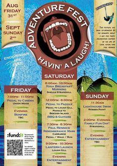 'Havin' a laugh' Adventure Festival Friday August - Sunday September Morning Yoga, Morning Breakfast, Festivals, Irish, September, Sunday, Events, Adventure, Sweet
