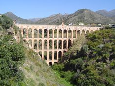 """When we thought we would need to create part of our locations for our Short-film """"Khepri"""" with CGI, Andalusia welcomes us again with another PERFECT location. Aqueduct of the Eagle, in Nerja, Malaga. Just a gift from heaven for us. Rome Hbo, Places To See, Places Ive Been, Wonderful Places, Beautiful Places, Spartacus Blood And Sand, Costa, Amazing Buildings, Ancient Rome"""
