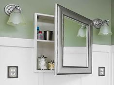 Unique Bathroom Recessed Medicine Cabinet Contemporary In Cabinets With Mirrors Impressing On Intended At