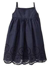 Beautiful navy eyelet dress from Baby Gap $23