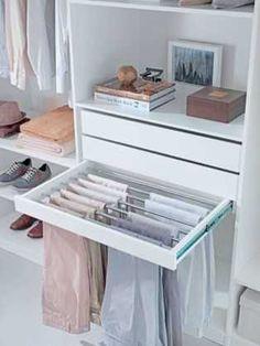 distribución de armarios pantalones #BedroomIdeas