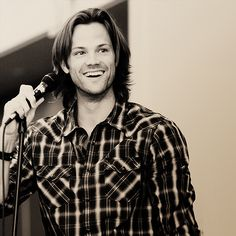 "Sometimes I'm just like ""Jared, you are gorgeous."" He is. #SupernaturalCast #JaredPadalecki"