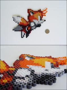 Sonic the Hedgehog - Tails - bead sprite magnet
