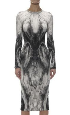 ALEXANDER MCQUEEN – FOX PRINT PENCIL DRESS