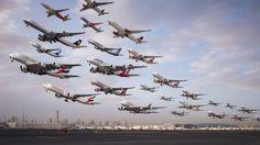 Plane-Spotting Dubai zwischen 6 und 8 Uhr morgens: Kelleys Aufnahmen zeigen nicht nur...