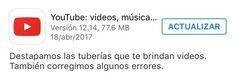 Youtube destapó las tuberías de los videos.