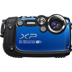 Fujifilm FinePix XP200 Blue 16MP Waterproof Digital Camera with 3-Inch LCD (Blue) Four proof protection for use in extreme conditions (Waterproof to 50 ft., Shockproof to 6.6 ft., Freeze proof to 14F and Dustproof). Bright and clear 3.0-inch LCD display (920k dot). 16 million effective pixels 1/2.3-inch CMOS image sensor for fast performance, even in low light. Fujinon 5x optical zoom lens. Full H... #Fujifilm #Photography