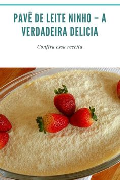 #receitas #receitascaseiras #comida #doces Gourmet Desserts, Portuguese Recipes, Chocolate, Cake Recipes, Cheesecake, Strawberry, Food And Drink, Favorite Recipes, Sweets