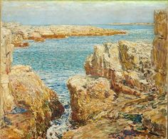 "Childe Hassam, ""Coast Scene, Isles of Shoals""; oil on canvas [1901] ."