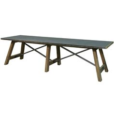 Tin Top Industrial Rectangular Dining Table - Industrial Chic