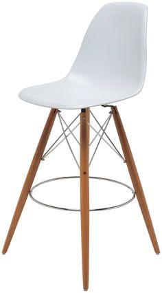Charlotte White Counter Stool | Modern Furniture - LikeModern.com