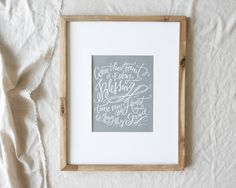 Come Thou Fount Print- Lindseys Letters