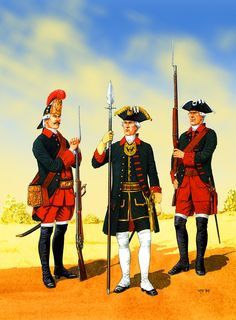Russian Probrazhenski and Semenovski Guardsmen, Seven Years War