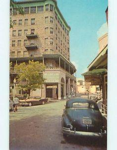 Unused-1950s-OLD-CARS-BASIN-PARK-HOTEL-RESTAURANT-Eureka-Springs-AR-Q5669
