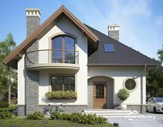 Pin on house front elevation Brick House Designs, Bungalow House Design, House Front Design, Tiny House Design, Tuscany Homes, Architectural House Plans, Model House Plan, Home Building Design, Minimalist House Design