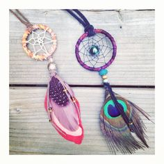 Feather dreamcatcher necklace  Handmade boho by InspiredSoulShop, $15.00