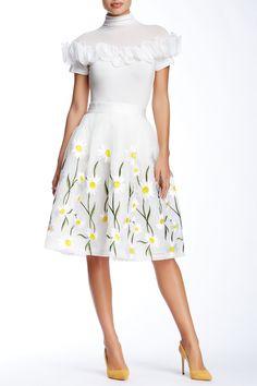 Gracia | Daisy Flower Organza Skirt | HauteLook