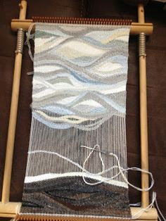 Treelander Textile Art...a Fiberarts adventure!: Tapestry Weaving and Knitted Flowers