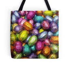 ' Tote Bag by Mandy Collins Large Bags, Small Bags, Easter Gift, Medium Bags, Cotton Tote Bags, Are You The One, Easter Eggs, Photo Art, Chocolate