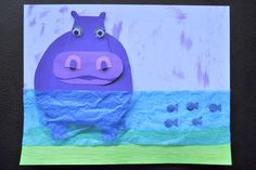 Pinterest inspires me pretty much on a daily basis…I repinned THIS pin and knew I had to find a way to recreate theHippo Masterpiece. The pin comes from beautiful artwork by Melanie Mikecz and her shop on etsy is definitely worth checking out. A Hippo craft just isn't complete without reading the HICCUPotamus by Aaron …