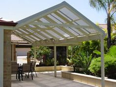 Pitched Pergola w retaining wall
