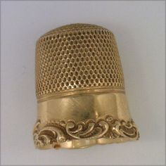 14k Solid Gold Thimble Size 8