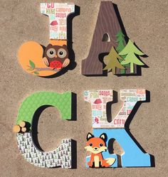 A personal favorite from my Etsy shop https://www.etsy.com/listing/266577745/woodland-nursery-letters-woodland