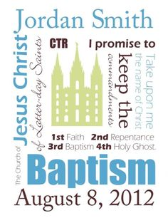 Free LDS baptism printables- made in Word do you can customize with your own name and date before printing from home! by TinaPowers
