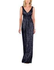 """<meta charset=""""utf-8""""> <h5>Description</h5> <ul> <li>Sorella Vita Modern Metallic Style 8686</li> <li>Fulllength bridesmaid dress</li> <li>V-neckline</li> <li>Slimming cinched waist</li> <li>Flowing skirt</li> <li>Matte sequin</li> </ul>"""