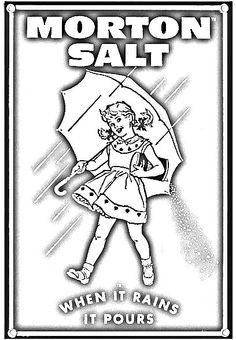 Morton Salt Girl Coloring Page